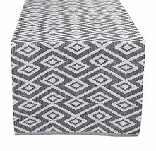 Glamburg Cotton Woven Table Runner, Diamond Weave, 16x90, Perfect for Sp... - $23.34