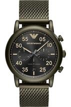Emporio Armani AR11115 Green Stainless Steel Mesh Bracelet Men's Watch - $311.79