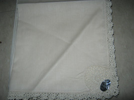"Cotton Crochet Napkins Cream 17"" X 17"" Set Of 6 - $8.90"