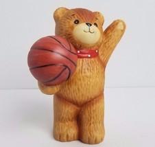 Enesco Ceramic Bear Basketball Sports 1980 Lucy & Me Lucy Rigg Bears - $15.72