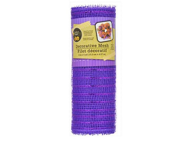 Crafters Square-Decorative Mesh-6 inch 5 yards-Metallic Purple
