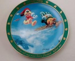 Danbury Mint Collector Plate Dear Diary Garfield Odie Sledding All My Ni... - $8.86