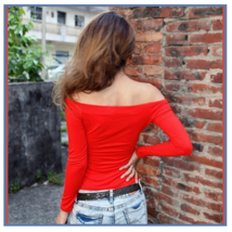 Long Sleeve Sexy Off Shoulder Fashion Cotton T-Shirt 5 Assorted Colors image 5