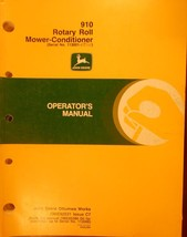 John Deere 910 Rotary Roll Mower Conditioner Operator's Manual - $20.00