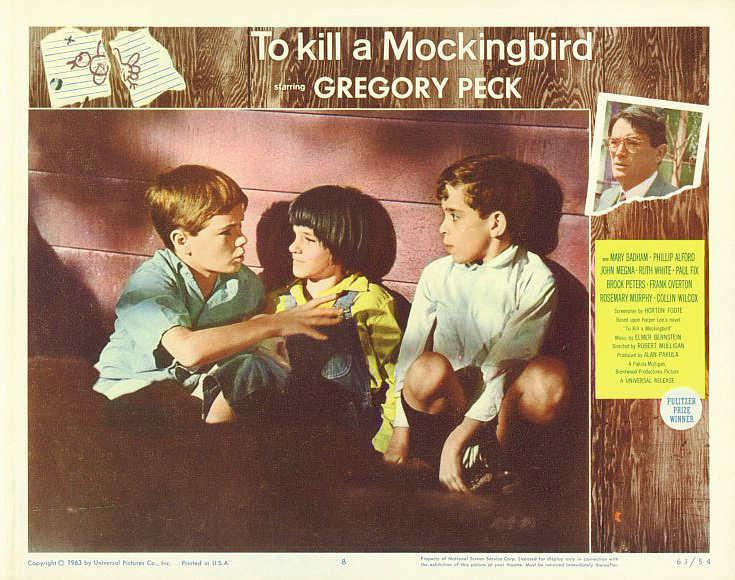 To kill a mockingbird poster lobby card 11x14 jem scout   dill