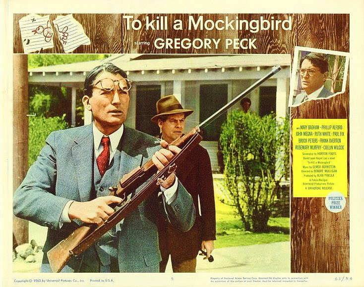 To kill a mockingbird poster lobby card 11x14 rabid dog
