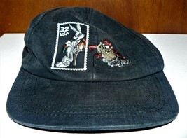 VTG 1997 Looney Tunes Cap Snapback Hat Bugs Bunny Taz Stamp Collection B... - $8.17