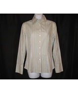 Womens Shirt Top Blouse Career Size 4 Small Stripe Long Sleeve EXPRESS - $14.99