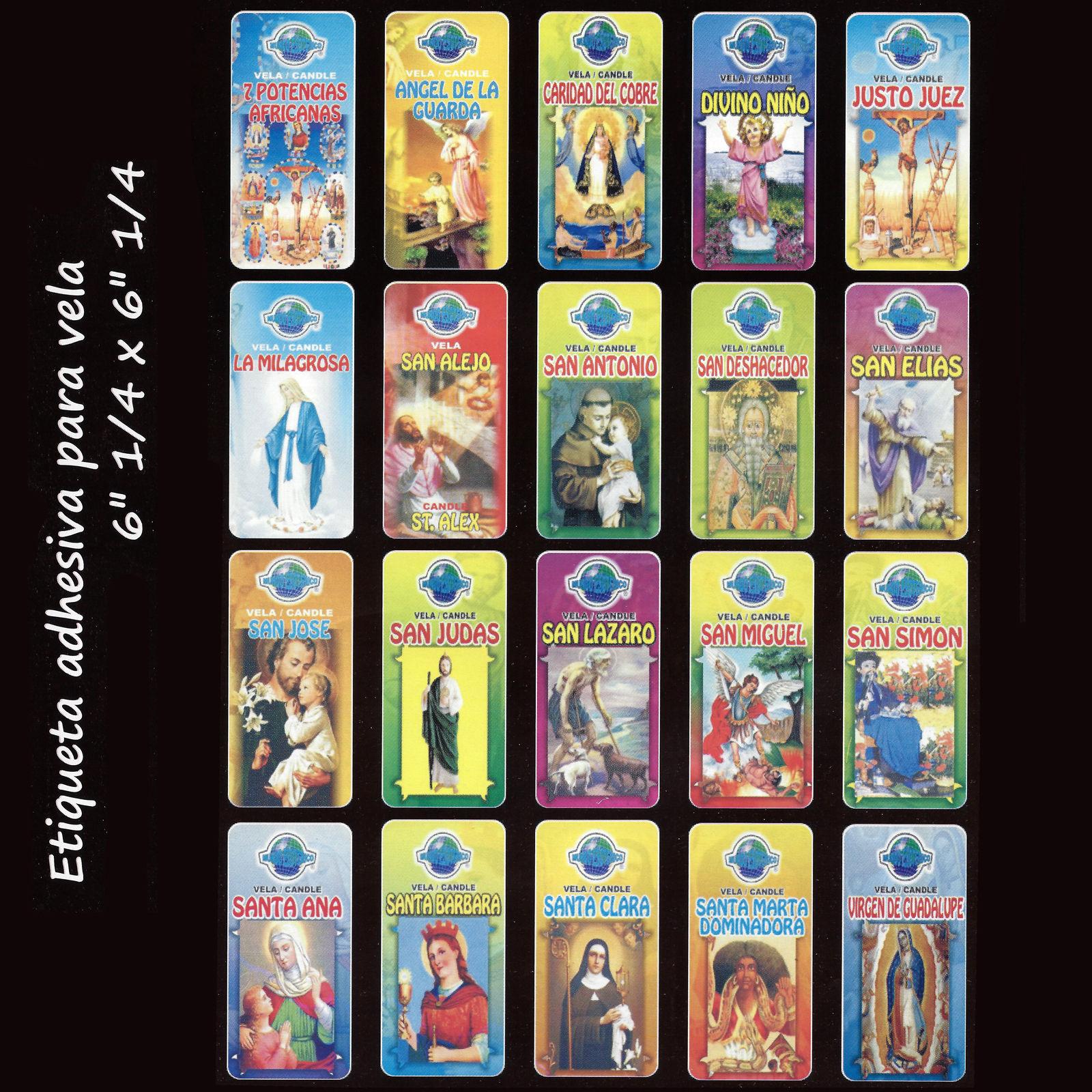 50 labels etiquetas para velas 7 dias santos angeles - Etiquetas para velas ...