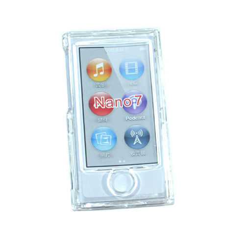 Clear Crystal Hard case for ipod Nano 7th Gen 7G + detachable Strap