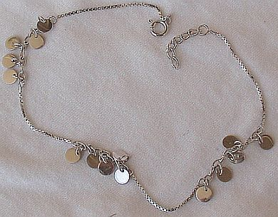 Anklet with charms B