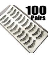 LOT of 100 pairs Daily Normal Makeup False EyeLashes - $24.74