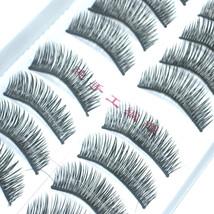 LOT of 50 pairs Long Makeup False EyeLashes A8 Handmade - $17.81