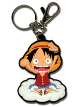 One Piece Luffy on Cloud PVC Key Chain GE4953 *NEW* - $7.99