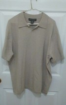 Banana Republic Men's knit polo shirt tan size XL - $3.99