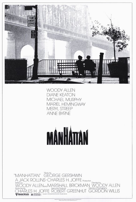 MANHATTAN MOVIE POSTER 27X40 IN WOODY ALLEN DIANE KEATON 69X101 CM