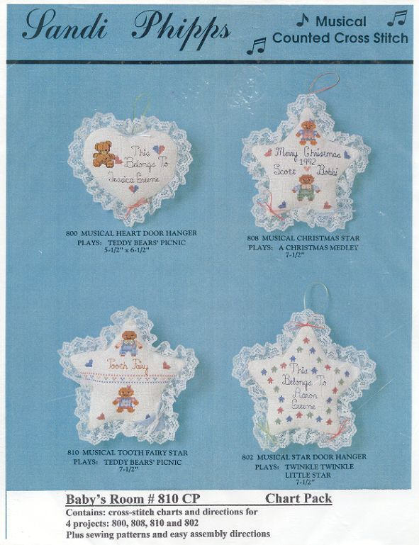 Babys Room Musical Cross Stitch Chart