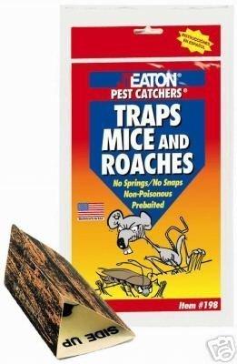 198-JT EATON PEST CATCHER MICE & ROACH GLUE TRAPS-2 PK