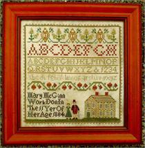 Mary McGuinn sampler cross stitch chart Homespun Samplar  - $10.80