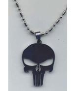 Skull Pendant 24 inch Neck Chain Stainless Steel NEW - $8.95