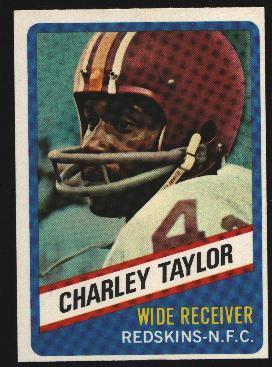 Wonder Bread football card #5 Charley Taylor 1976
