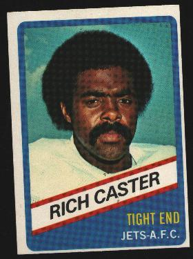 Wonder Bread football card #6 Rich Caster 1976