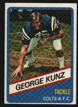 Wonder Bread football card #7 George Kunz 1976