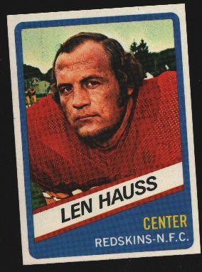 Wonder Bread football card #11 Len Hauss 1976