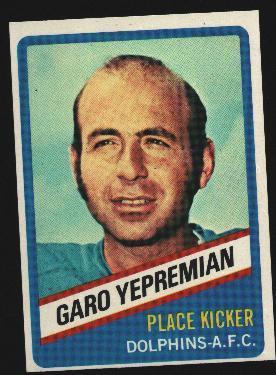 Wonder Bread football card #12 Garo Yepremian 1976