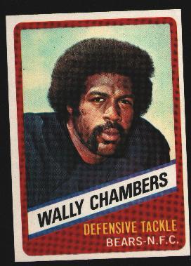 Wonder Bread football card #15 Wally Chambers 1976