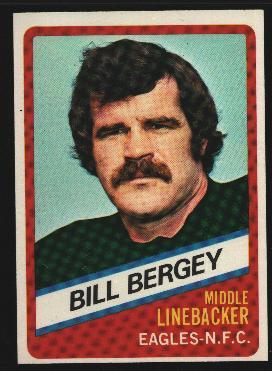 Wonder Bread football card #17 Bill Bergey 1976