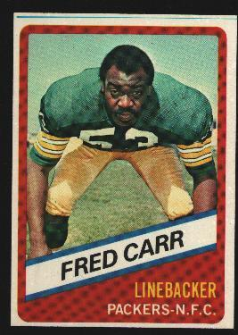 Wonder Bread football card #19 Fred Carr 1976