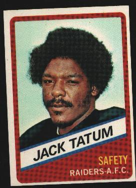 Wonder Bread football card #20 Jack Tatum 1976