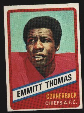 Wonder Bread football card #22 Emmitt Thomas 1976