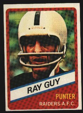 Wonder Bread football card #24 Ray Guy 1976