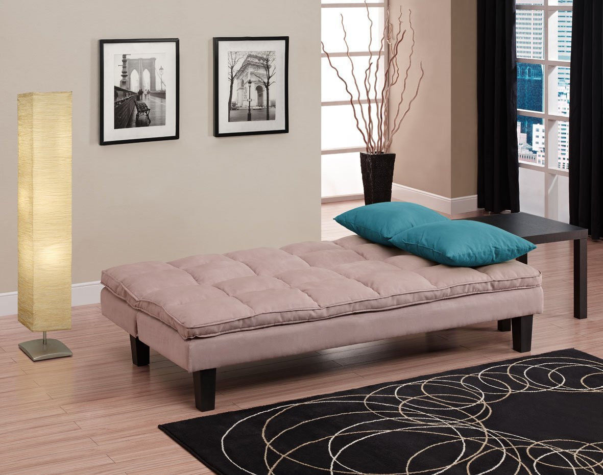 3 Position Click Clack Futon Sofa Bed In Tan Twin Size