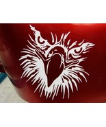 Eagle Outline Gas Tank decal Set White - $10.00