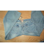 Ladies STEVE and BARRYS Size 12 Denim Blue Jeans Stone Washed Short S NEW  - $24.99