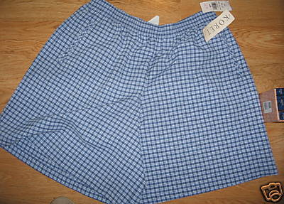 Ladies Koret Walking Dress Shorts Blueberry blue Black White Checked 20 W P NEW