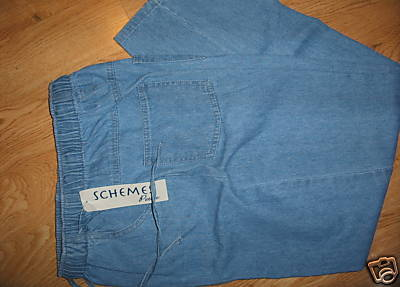 Ladies Petite Schemes Blue JEANS Sz PS elastic waist 4 Pockets Soft Comfy S NEW