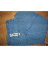 Ladies Petite Schemes Blue JEANS Sz PS elastic waist 4 Pockets Soft Comf... - $15.99