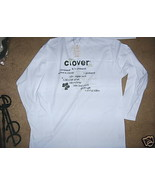 MENS White Long Sleeve T SHIRT Hill Crop Sz L CLOVER Nigger Luck Cloverl... - $9.99