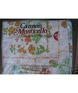 Cannon MONTICELLO Full Flat Sheet BUTTERFLY FLO... - $9.99