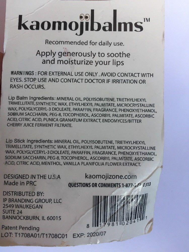 Kaomjibalms Lip balm Enhanced vitamin E Cherry Pom  Frosted Mint Santa Snowm