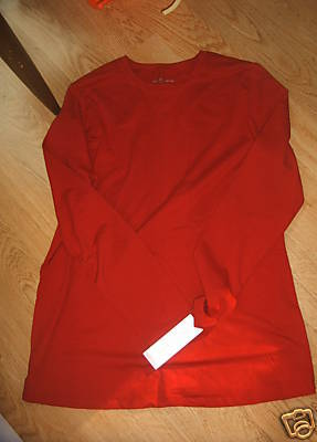 Ladies MATERNITY Top Shirt Liz Lange Target XL LS Ruby Red Stretch Spandex NEW
