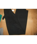 Ladies Fundamental Things Black Dress Pants Slacks Elastic Side Pleat Sz... - $21.99