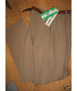 LADIES Basics DRESS PANT Taupe Beige Size 10 Super Stretch Belt Burlingt... - $19.99