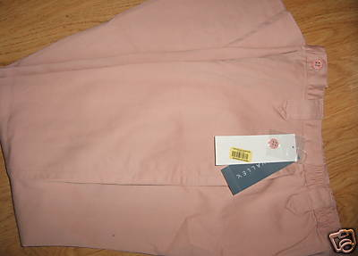 Ladies NAPA VALLEY Angel Pink Kahki Dress Slacks Pants 6 Petite Elastic Side NEW