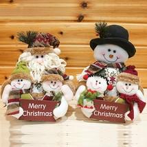 Christmas Santa Claus Snowman Dolls Xmas Ornaments Tree Hanging Decor St... - $17.40