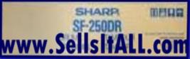 Sharp SF-250DR Drum SF250DR - $69.95